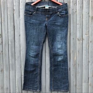 Old Navy Jeans - Woven Waistband Boot Cut Maternity Jeans 6 SHORT